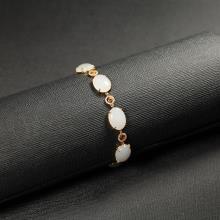 (18k金镶钻)羊脂白玉-手链