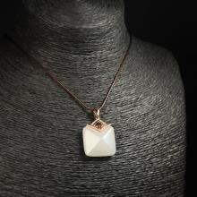(18k金镶钻)羊脂白玉-吊坠