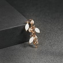 (18k玫瑰金镶钻)白玉胸针-金枝玉叶