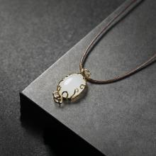 (18k金)白玉-吊坠