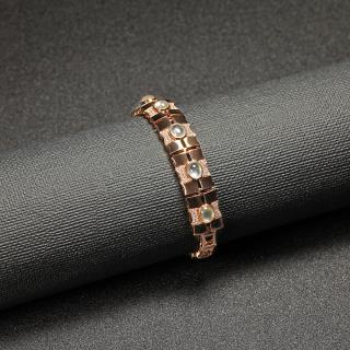 (18k玫瑰金镶钻)翡翠-秀竹手链
