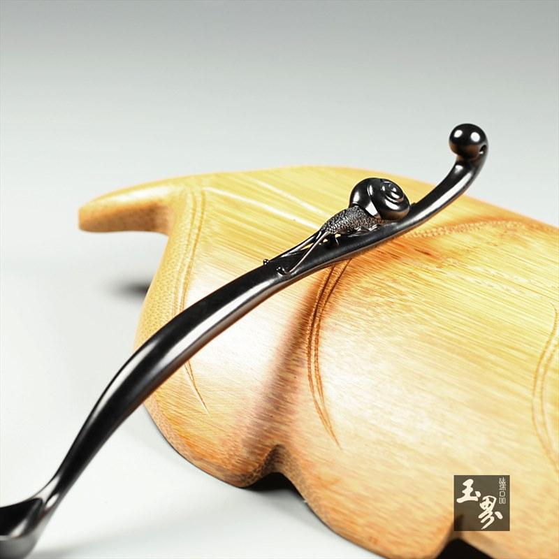 墨玉-小蜗牛茶匙