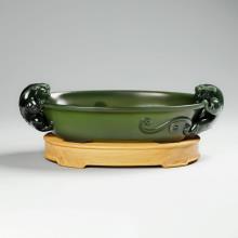 青玉-螭龙洗