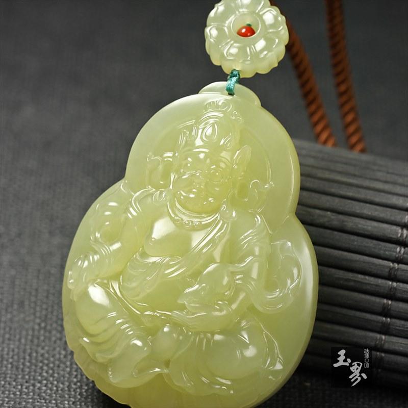 黄玉挂件-黄财神-2