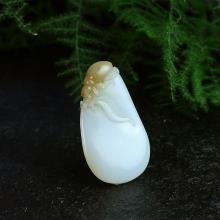 和田玉糖白玉挂件-富甲天下(特惠)