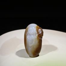新疆且末糖羊脂白玉挂件-小沙弥(特惠)