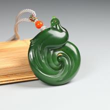 碧玉挂件-孔雀