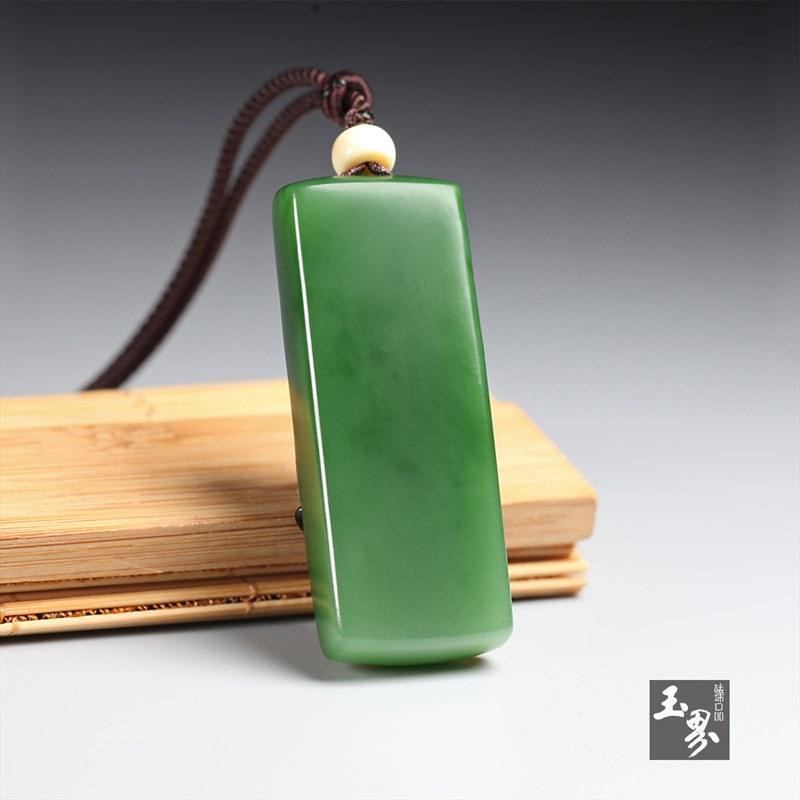 巧雕碧玉牌-春江水暖-5