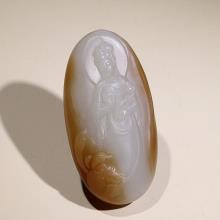 新疆且末糖白玉挂件-观音(特惠)