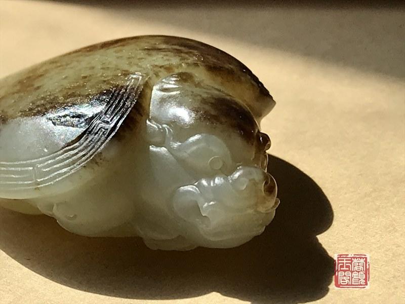 新疆和田玉籽料挂件    龙龟