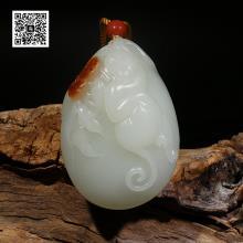 新疆和田红皮籽料挂件-封侯大业