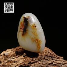 新疆和田白玉籽料挂件-喜上眉梢(特惠)