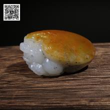 新疆和田桔红皮点墨籽料挂件-龙龟(特惠)
