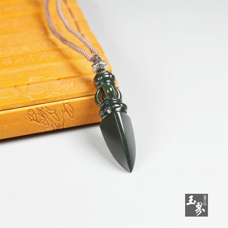 青玉挂件-金刚杵