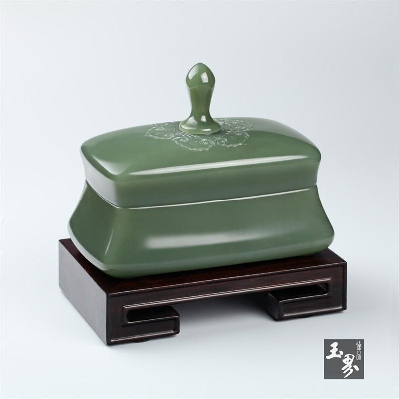 青玉-如意文房香盒