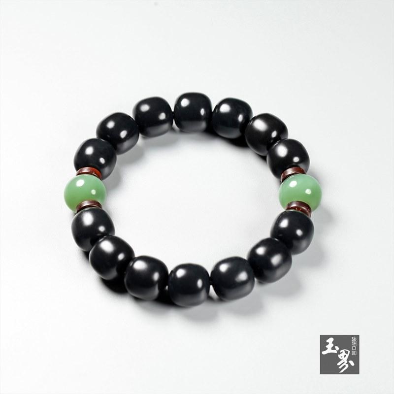 墨玉-素珠手链