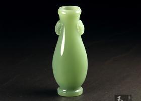 和田玉器皿赏鉴(二)—精美端整的玉瓶